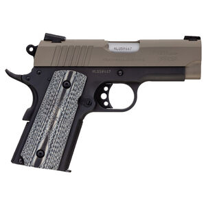 "Taurus Officer's 1911 .45 ACP Semi Auto Pistol 3.50"" Barrel 6 Rounds Novak Sights Two Tone Cerakote Sand Slide/Black Frame"