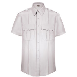 Elbeco Textrop2 Men's Short Sleeve Shirt Neck 19 100% Polyester Tropical Weave White