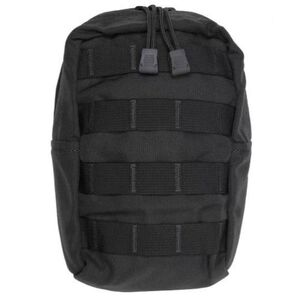 "Tac Shield Vertical General Purpose Utility MOLLE Pouch 9""x6""x4"" Nylon Black T4103BK"