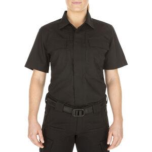 5.11 Tactical Women's TACLITE TDU Short Sleeve Shirt Small Black