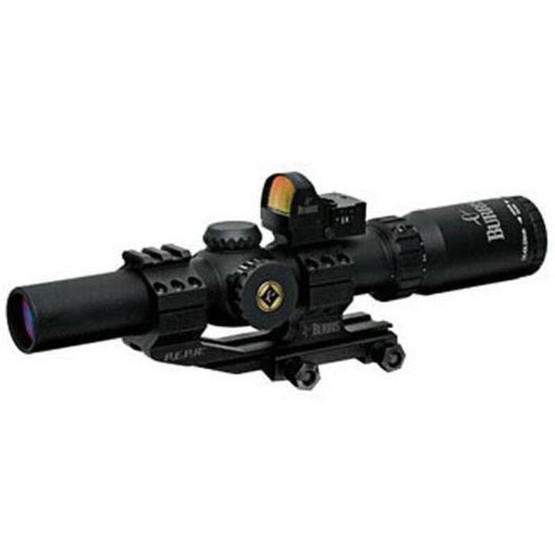 Burris MTAC 1-4x24 Riflescope CQ 5.56 Illuminated Reticle with Burris FastFire II Red Dot Reflex Sight and PEPR AR Mount Matte Black 200437-FF