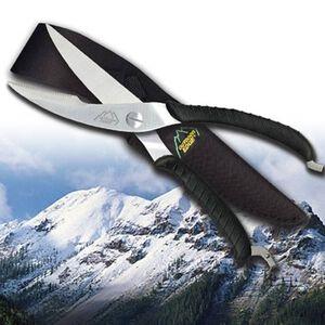 "Outdoor Edge Game Shears 3.5"" 420 Stainless Steel Blades Bakelite Handles Cordura Nylon Sheath Black SC-100"