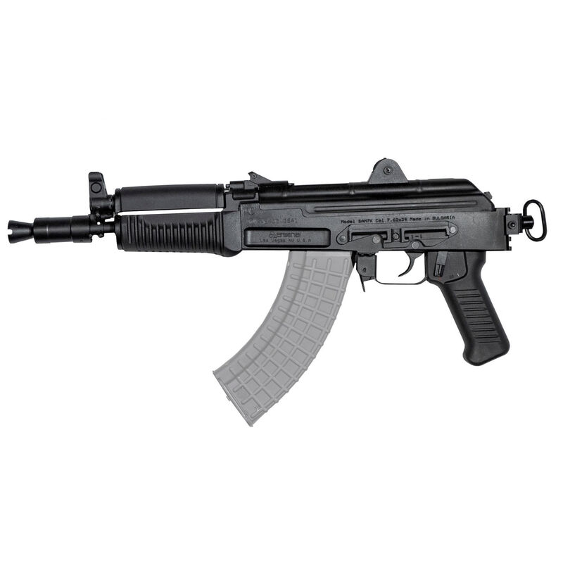 "Arsenal SAM7K AK-47 7.62x39mm Semi Auto Pistol 10.5"" Barrel 5 Rounds Milled Receiver Rear Vertical Picatinny Rail Matte Black"