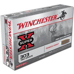Winchester Super X .303 British Ammunition 20 Rounds JSP 180 Grains X303B1