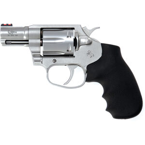 """Colt Cobra .38 Special +P Double Action Revolver 2"""" Barrel 6 Round Cylinder Fiber Optic Front Sight Trench Rear Hogue Grip Matte Stainless Steel Finish"""