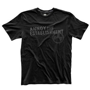 Magpul Fine Cotton Annoy The Establishment T-Shirt Size Large Matte Black MAG741-001-L