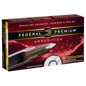 Federal Premium .338 Lapua Magnum Ammunition 20 Rounds 300 Grain Nosler Accubond