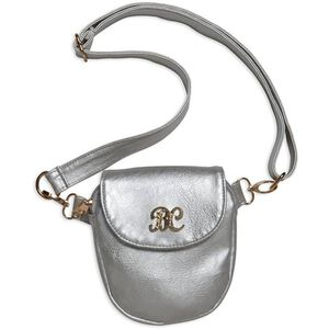 "Bulldog Cases Trilogy Purse 6""x7""x1.25"" Leather Silver BDP048"