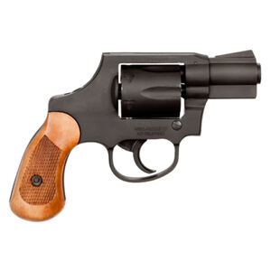"Rock Island M206 Spurless Double Action Revolver .38 Special 2"" Barrel 6 Rounds Fixed Sights Steel Frame Parkerized Finish Wood Grips 51280"