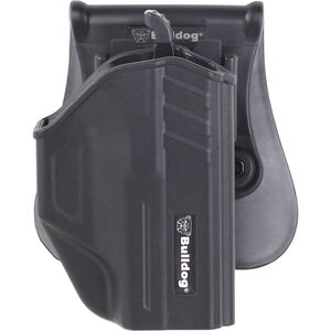 Bulldog Cases Thumb Release Polymer Holster With Paddle And Mag Holder RH Fits Glock 43