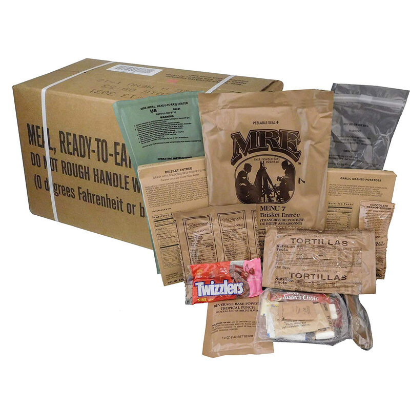 """U.S. Original Military Case """"A"""" MRE with Menus  #1-12 2016 Production Date, 2019 Inspection Date NSN 8970-00-149-1094"""