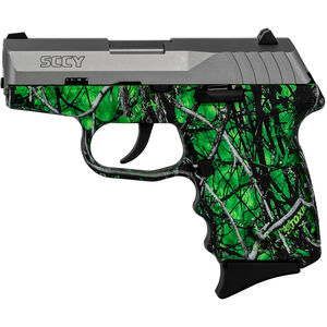 "SCCY CPX-2 9mm Luger Subcompact Semi Auto Pistol 3.1"" Barrel 10 Rounds No Safety Moon Shine Toxic Polymer Frame with Stainless Slide Finish"