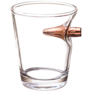 2 Monkey Lucky Shot .308 Real Bullet Handblown Shot Glass