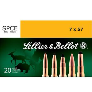 Sellier & Bellot 7x57 Ammunition 20 Rounds 173 Grain Soft Point Cutting Edge Projectile 2,379fps