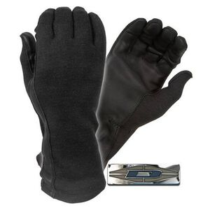 Damascus Protective Gear Flight Gloves Nomex Leather Large Black