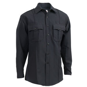"Elbeco Textrop2 Men's Long Sleeve Shirt Neck 17.5 Sleeve 37"" 100% Polyester Tropical Weave Midnight Navy"