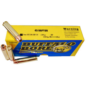 Buffalo Bore .45 Raptor Ammunition 20 Rounds JHP 300 Grains