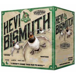 """Hevi-Shot Hevi Bismuth Waterfowl Ammunition 20 Gauge 25 Rounds 3"""" #2 1-1/8 oz Hevi-Bismuth Shot 1400 fps"""