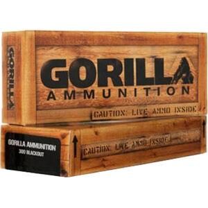 Gorilla Match .300 Blackout Ammunition 20 Rounds 110 Grain Nosler Varmageddon Polymer Tip 2375 fps