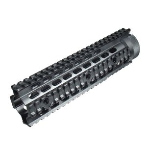 "Leapers UTG PRO AR-15 Free Float Quad Rail Handguard 9"" Mid Length Aluminum Black MTU004"