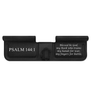 Bastion Gear AR-15 Custom Laser Engraved Ejection Port Door Dust Cover Psalm 144:1 Matte Black