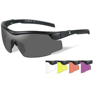 Wiley X Eyewear RE 105 Adult Safety/Shooting Glasses 5 Lens Kit Clear/Yellow/Persimmon/Purple/Smoke Grey/Black Frame
