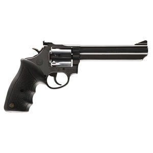 """Taurus Model 66 Double Action Revolver .357 Magnum 6"""" Barrel 7 Rounds Fixed Front/Adjustable Rear Sights Soft Rubber Grip Matte Black Finish"""
