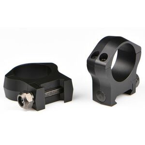 Warne Mountain Tech 30mm Fixed High Scope Rings Matte Black 7215M