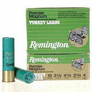 """Remington Turkey 10 Gauge 3.50"""" #4 Plated 2.25 oz Ten Round Box"""