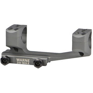 Warne X-Skel Mount 30mm 20 MOA Aluminum Gray