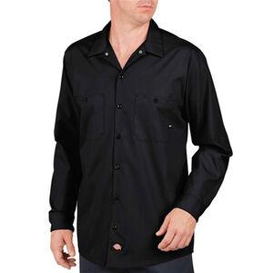 Dickies Long Sleeve Industrial Permanent Press Poplin Work Shirt 4 Extra Large Regular LL535BK
