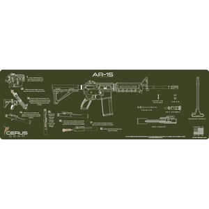 """Cerus Gear AR-15 Instructional ProMat Rifle Size 12""""x36"""" Synthetic OD Green"""