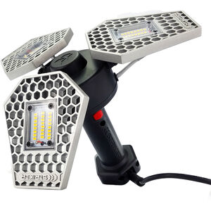 Striker TRiLIGHT ShopLight White LED 3000 Lumen Plug In Aluminum Silver/Black