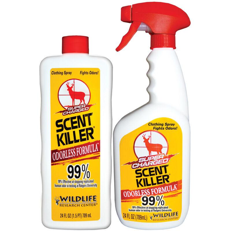 Wildlife Research Center Super Charged Scent Killer Spray Odorless Formula 24 Fluid Ounce Spray Bottle with 24 Fluid Ounce Liquid Refill Bottle 559