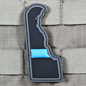 "Violent Little Machine Shop ""Thin Blue Line"" State of Delaware Morale Patch"