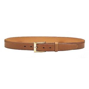 "Galco Gunleather SB3 Dress Belt 1.5"" Wide Brass Buckle Leather Size 40 Tan SB3-40"