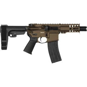 "CMMG Banshee 300 Mk4 .22 LR AR Style Semi Auto Rimfire Pistol 4.5"" Barrel 25 Rounds RML4 M-LOK Handguard CMMG Micro/CQB RipBrace Midnight Bronze Finish"