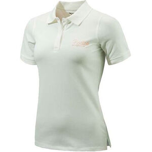 Beretta Special Purchase Women's Corporate Polo Short Sleeve Large Cotton White