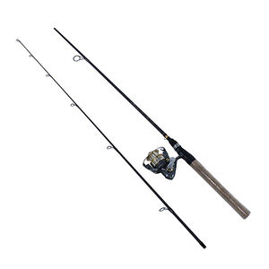 """Zebco Quantum Strategy Spinning Combo 6'6"""""""" 2 Piece Medium Action 5.2:1"""