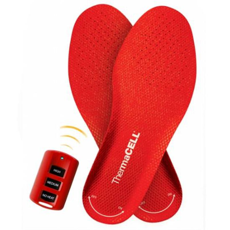 ThermaCELL Heater Insoles Medium Rechargeable Batteries Red THS01-M