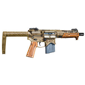 "Battle Arms Development Tanker .300 AAC Blackout AR-15 Semi Auto Pistol 7.5"" Barrel 30 Rounds Free Float Hand Guard SaberTube Tail Hook Brace WWII Green Cosmoline Finish"