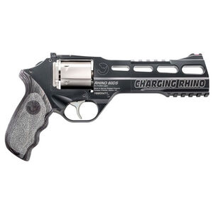 "Chiappa Charging Rhino Revolver 60DS 9mm 6"" Barrel 6 Rounds Grey Laminate Grips Black Frame Nickel Cylinder"
