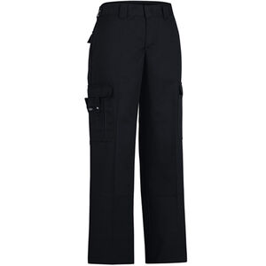 "Dickies Women's Flex Comfort Waist EMT Pants Poly/Cotton Twill Size 14 with 37"" Unhemmed Inseam Black FP2377BK 14UU"