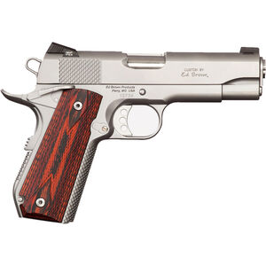 "Ed Brown Kobra Carry 1911 Semi Auto Pistol .45 ACP 4.25"" Barrel 7 Rounds Bobtail Frame Night Sights Laminate Wood Grips Matte Stainless"