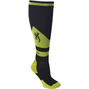 Browning Unisex Buckeye Socks Large Calf Height Polyester Black and Green