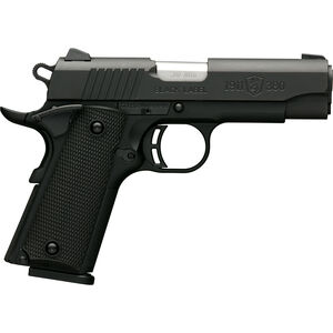 "Browning 1911-380 Black Label Compact .380 ACP Semi Auto Pistol 3.625"" Barrel 8 Rounds Combat Sights Steel Slide Polymer Frame Black Finish"