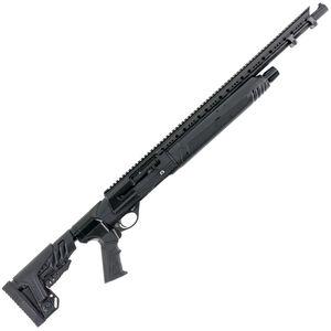 "Hatfield SAS 12 Gauge Semi Auto Shotgun 20"" Barrel 3"" Chamber 5 Rounds Full Length Rail Synthetic Adjustable Stock Tungsten Finish"