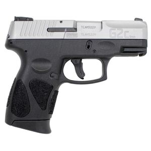 """Taurus G2C 9mm Luger Semi Auto Pistol 3.2"""" Barrel 10 Rounds 3 Dot Sights Black Polymer Frame Stainless Finish"""