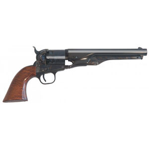 "Cimarron 1861 Navy Military CFS Black Powder Revolver .36 Caliber 7.5"" Blued Barrel Military Cut for Stock Walnut Grip Case Hardened Frame Finish CA050"