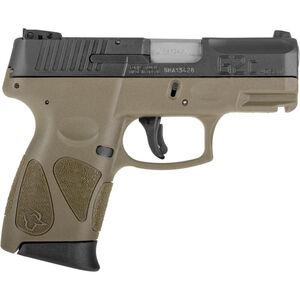 "Taurus G2S Slim .40S&W Semi Auto Pistol 3.2"" Barrel 6 Rounds 3 Dot Sights Matte Black Slide/OD Green Frame"